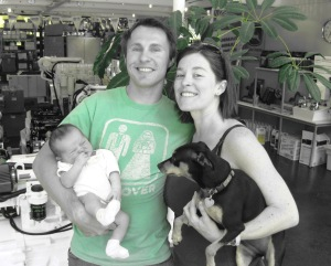 Ivan, Dad, Mom, and Gracie, 11 Days After!