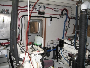 The Vessel's Modern Engine Room