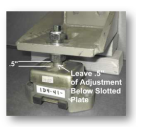 Figure 2   The Vertical Plate Can Be Turned Over If Need For Your Aplication
